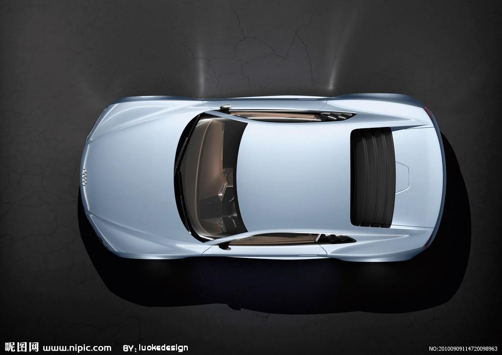 高清汽车顶视图无水印